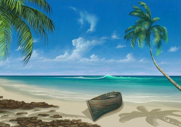 חוף מצויר